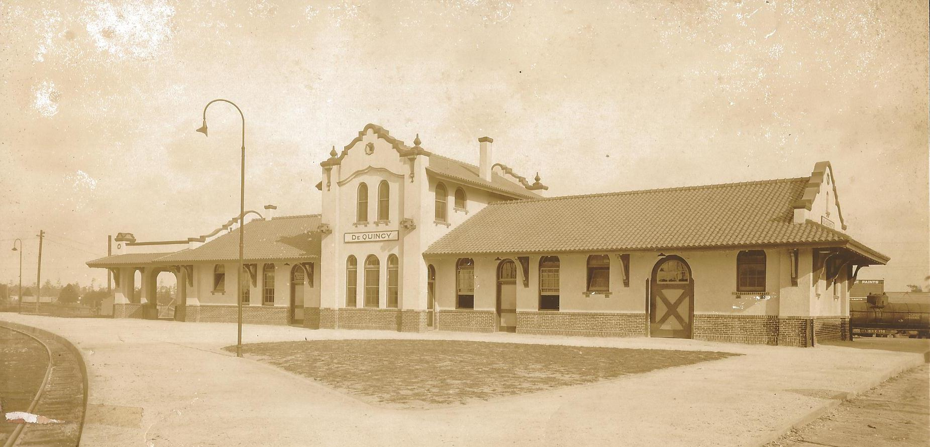 DeQuincy Railroad Museum shortly after it was built in 1923