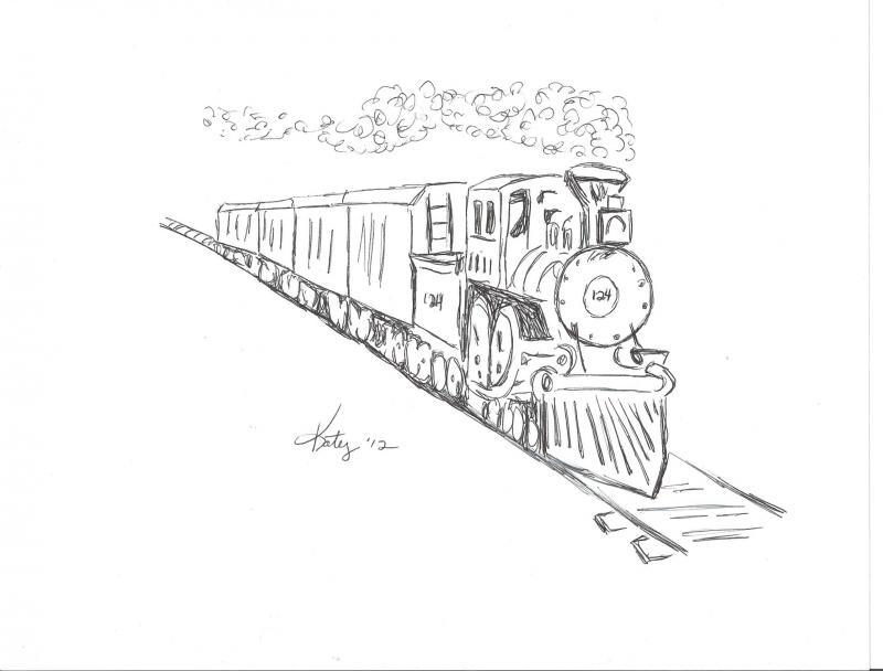 Related Keywords & Suggestions for train sketch